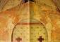 Bernardino de Rossi, Padre Eterno benedicente tra gli angeli, parte sommitale dell'affresco strappato. Originariamente sulla facciata della chiesa di Sant'Eugenio (Vigano Certosino), è ora collocato all'interno dell'edificio