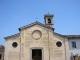 Stato attuale della facciata della chiesa