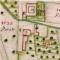 Catasto Teresiano, 1722, foglio VI, particolare del borgo di Vigano, matita, inchiostro e acquerelli su carta, mm 490x650 (totale). Archivio di Stato, MI