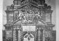L'arco di Porta Romana con le decorazioni provvisorie di Carlo Busio