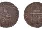 Medaglia-moneta con l'arco di Porta Romana e l'effige di Margherita d'Austria