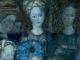 Gruppo di dame, fotografia della fluorescenza da ultravioletti