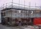 """L'edificio """"autorimesse"""" nella fase di ristrutturazione"""