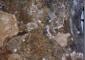 Particolare della fascia sottogronda affrescata prima del restauro