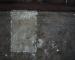 Particolare del lavoro di restauro: tasselli di pulitura