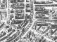 Particolare della pianta prospettica di Milano edita a Roma da Antonio Lafreri nel 1572