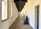 Il lungo corridoio della Pinacoteca Civica, al piano superiore della Seconda Scuderia, dopo il restauro (2003