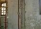 Ritrovamento della colonna originaria del portico nel muro dell'antica sacrestia