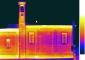 Mosaico dei termogrammi, range delle temperature 9.1-13°C, battuta del 2 ottobre 2007. Emissività 0.92. Dati ambientali: UR 69.6%; Temperatura 17 °C