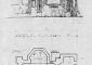 Prospetto e planimetria, disegno di rilievo (in Grassi 1983)