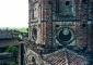 Torre campanaria, muratura superiore con tessitura diversa rispetto a quella sottostante