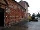 Facciata della casa parrocchiale prima dell'intervento di restauro