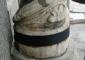 Particolare delle colonne del pronao dopo l'intervento di restauro
