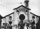 La facciata agli inizi del Novecento e dopo i restauri dell'arch. Diego Brioschi