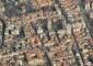 La Basilica di santa Maria della Passione  nel tessuto della città in una recente foto aerea