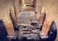 Particolare della campagna archeologica con i ritrovamenti delle antiche fondazioni dell'età tardoantica