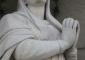 Sequenza fotografica dell'intervento di pulitura eseguito sulla statua della Madonna in marmo di Candoglia: stato finale dopo l'intervento