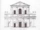 Facciata della chiesa, architetto Domenico Giunti (Raccolta Bianconi 1607)