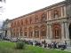 La facciata della Ca' Granda su via Festa del Perdono dopo il restauro