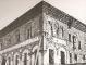 """Un altro particolare della fronte verso la Chiesa di S. Nazaro """"durante i lavori di assaggio"""" [tratto da L. Grassi, Lo """"Spedale dei Poveri"""" del Filerete. Storia e Restauro, Milano, 1972, ill. n. 117 e relativa didascalia]"""