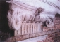 Capitello ionico del secondo ordine di lesene dopo il restauro