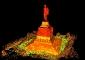 Immagine prospettica del rilievo attuale eseguito a laser scanner