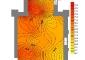 Battuta del giorno 16 ottobre 2008 alle ore 8.30, Mappa della Temperatura (°C), Dati esterni: Temperatura 16.3°C, Umidità Relativa 83.5%