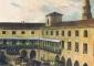 Veduta storica della corte di Palazzo Reale, porzione di dipinto, tratto dal sito MIBAC, Soprintendenza per i Beni Architettonici e per il Paesaggio per le provincie di MI, BG, CO, LC, LO, PV, SO e VA