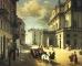 """Angelo Inganni (1807-1880), """"Il Teatro alla Scala visto dalla Corsia del Giardino"""", olio su tela - Milano, Museo Teatrale alla Scala"""