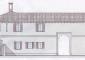 Progetto: fronte principale villa Beltrami da via Merula